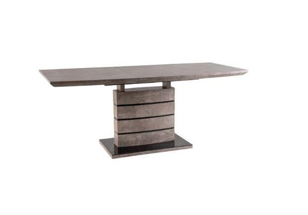 Стол обеденный Leonardo (80*1400-1800) серный+черный - Фото №1