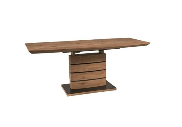 Стол обеденный Leonardo (90*1600-2100) дуб+черный - Фото №1