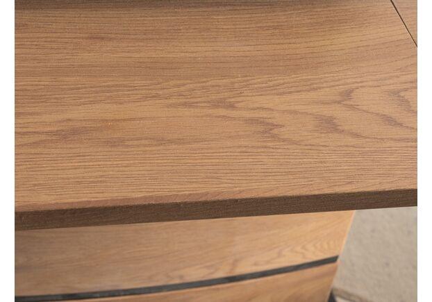Стол обеденный Leonardo (90*1600-2100) дуб+черный - Фото №2