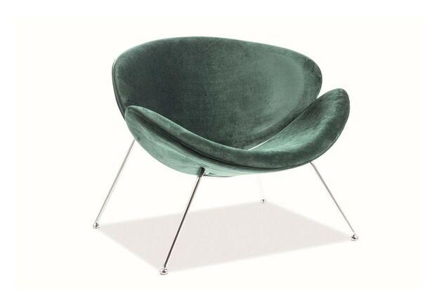Кресло Major Signal Velvet ткань зеленая/ ножки хром - Фото №1