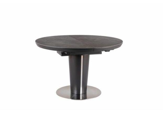 Стол обеденный Orbit Ceramic (1200-1600) серый/антрацит матовый - Фото №1