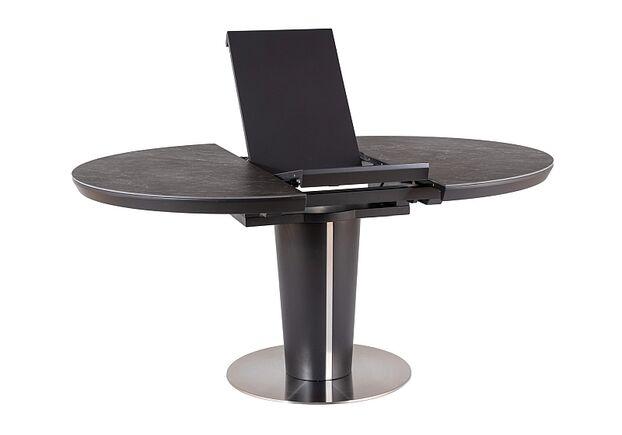 Стол обеденный Orbit Ceramic (1200-1600) серый/антрацит матовый - Фото №2