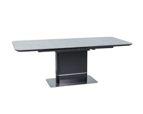 Стол обеденный Pallas Ceramic серый/черный мрамор  - Фото №1