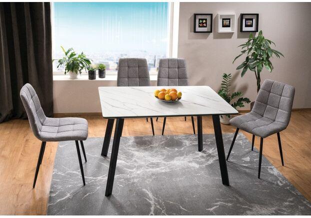 Стол обеденный Samuel белый/черный матовый - Фото №2