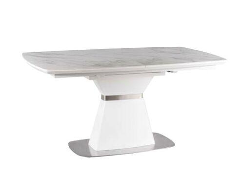 Стол обеденный Saturn II Ceramic белый матовый мрамор - Фото №1