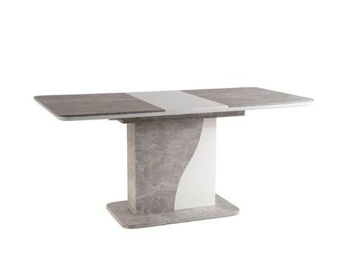 Стол обеденный Syriusz белый мат+дуб вотан с эффектом бетона - Фото №1
