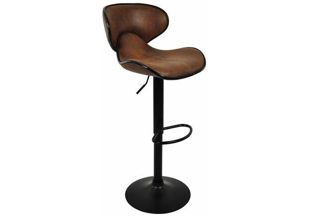 Барный стул со спинкой HB-678 коричневый - Фото №1