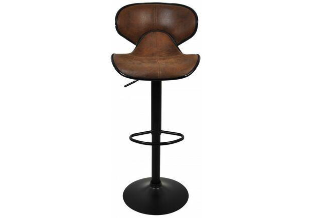 Барный стул со спинкой HB-678 коричневый - Фото №2