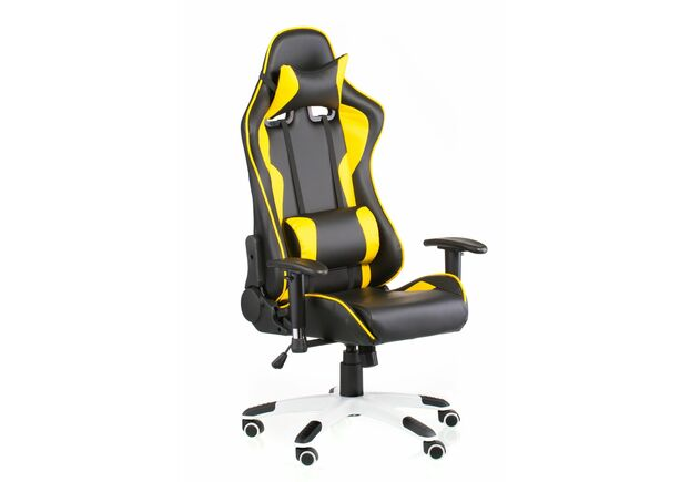Кресло Special4You ExtremeRace black/yellow - Фото №1