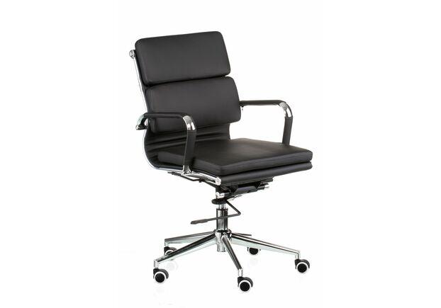 Кресло офисное Special4You Solano 3 artleather black - Фото №1