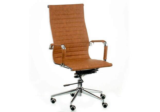 Кресло Special4You Solano artleather light-brown - Фото №1