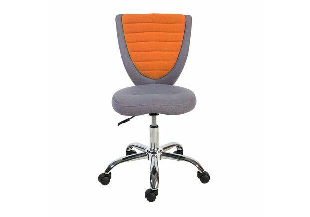 Кресло офисное POPPY Grey/Orange - Фото №2