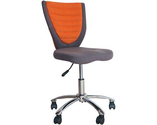 Кресло офисное POPPY Grey/Orange - Фото №1