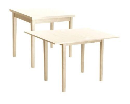 Стол обеденный Нордик СО-257 белый 60(120)*80 см - Фото №1