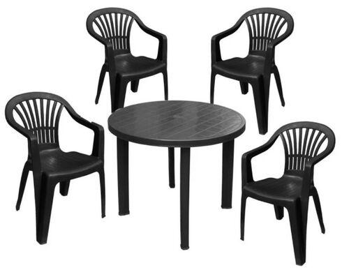 Набор для сада стол Tondo+4 кресла Altea антрацит - Фото №1