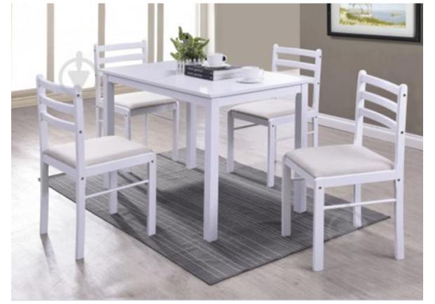 Комплект стол и 4 стула Трембита Встреча - Фото №1