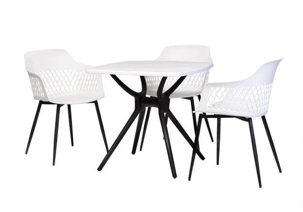 Стол обеденный TP-20 белый/черный - Фото №2