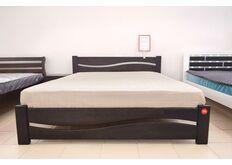 Фото Кровать деревяння двуспальная Волна 180*200 см темный орех