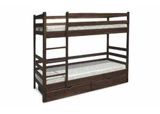 Фото Кровать деревянная двухъярусная Засоня  80*190 см темный орех без ящиков
